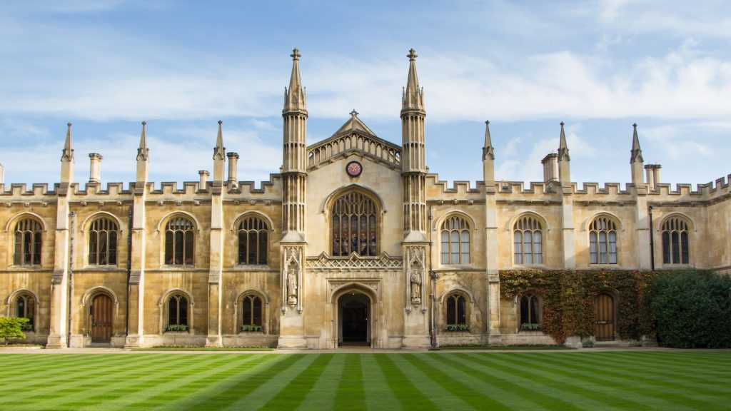 Historic college building in Cambridge United Kingdom