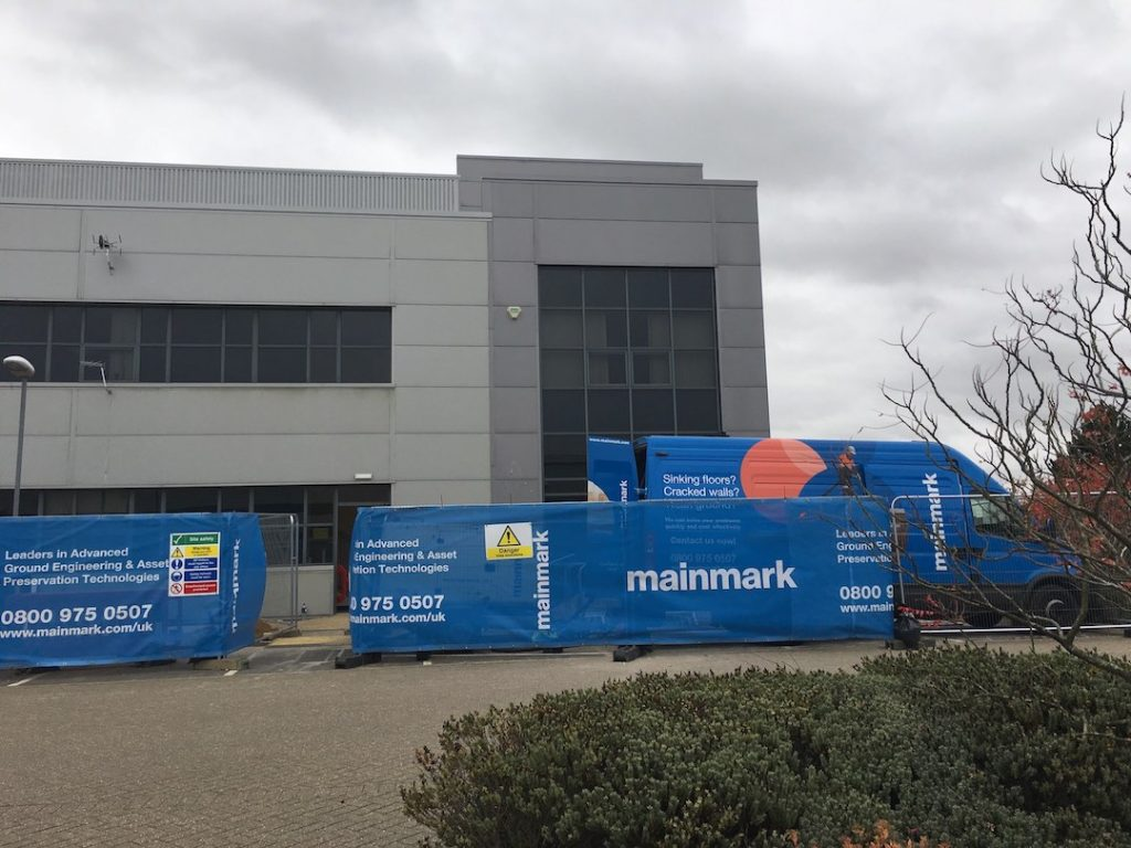 commercial building with mainmark fencing