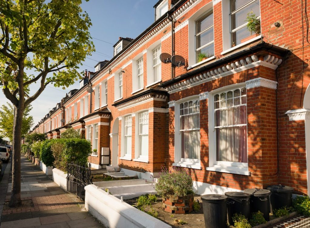 row of terrace homes
