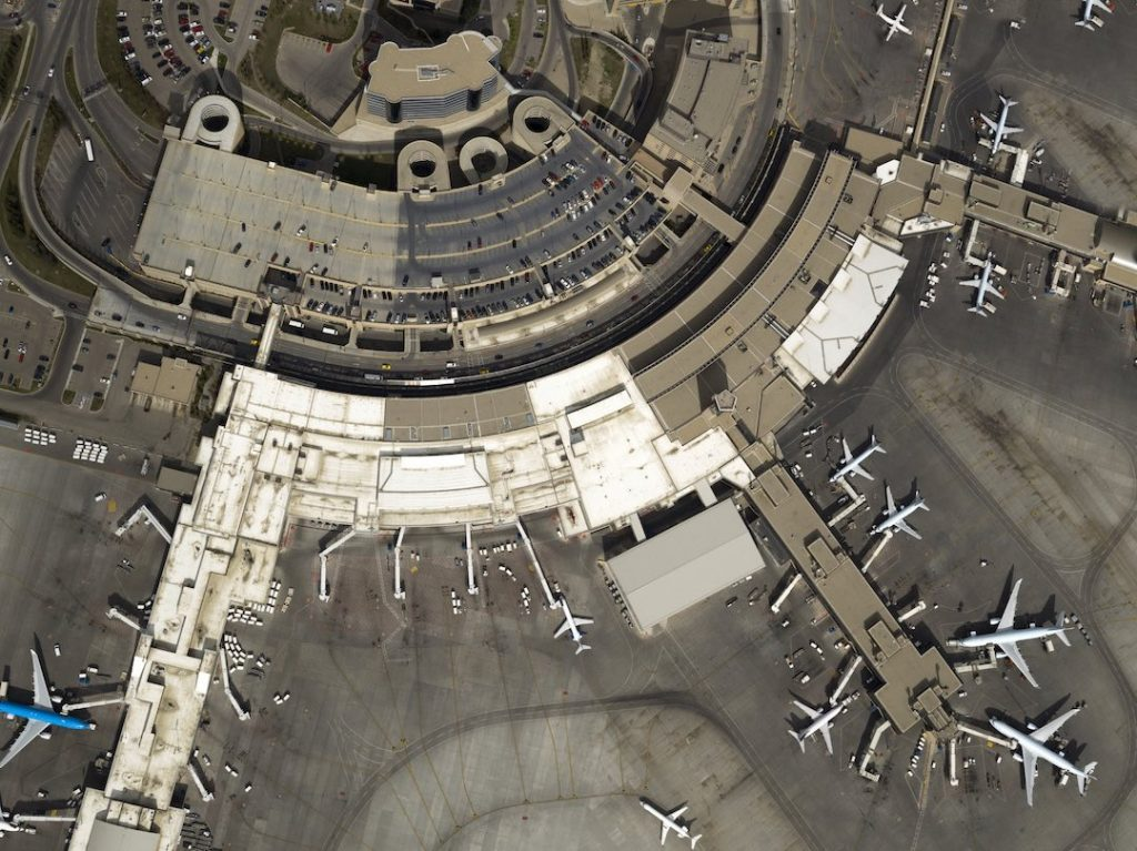 aerial photo of an airport