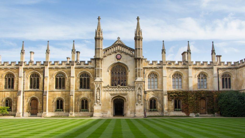 Historic college building in Cambridge, United Kingdom